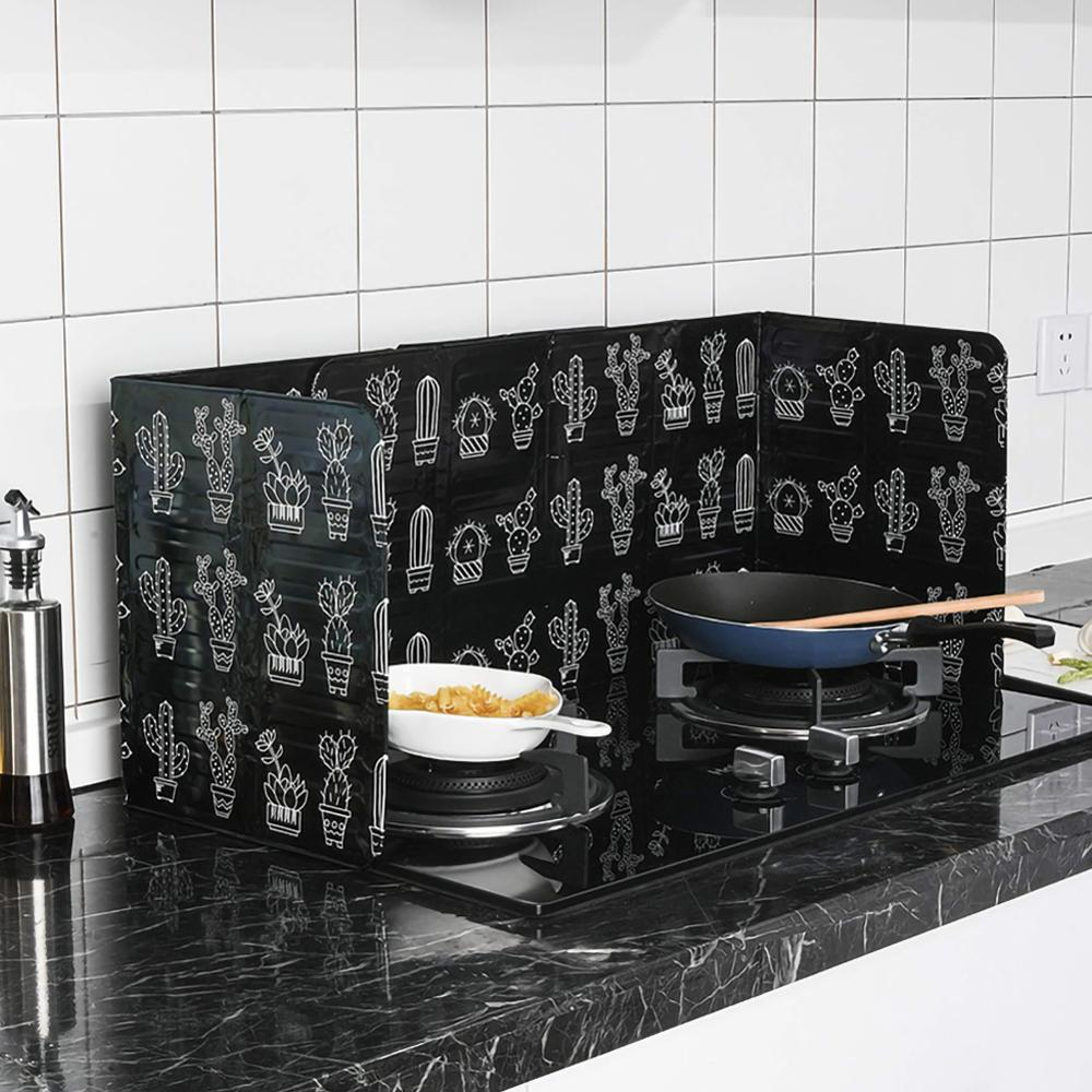 KitchenOil-proof Plate Heat Insulation Oil-proof Plate Splash-proof Blast Gas Cover Oil-proof Aluminum Foil Plate Cooker Table