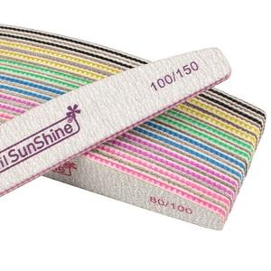 Image 5 - 50 個アクリル爪やすり強力な紙やすりバッファブロックマニキュアライムを ongle 80/100/150 /180/240/320 洗えるボートファイル