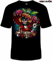 Dia de los Muertos T Shirt Unisex Cotton Adult Halloween Day Of The Dead custom printed tshirt Summer Men'S fashion Tee
