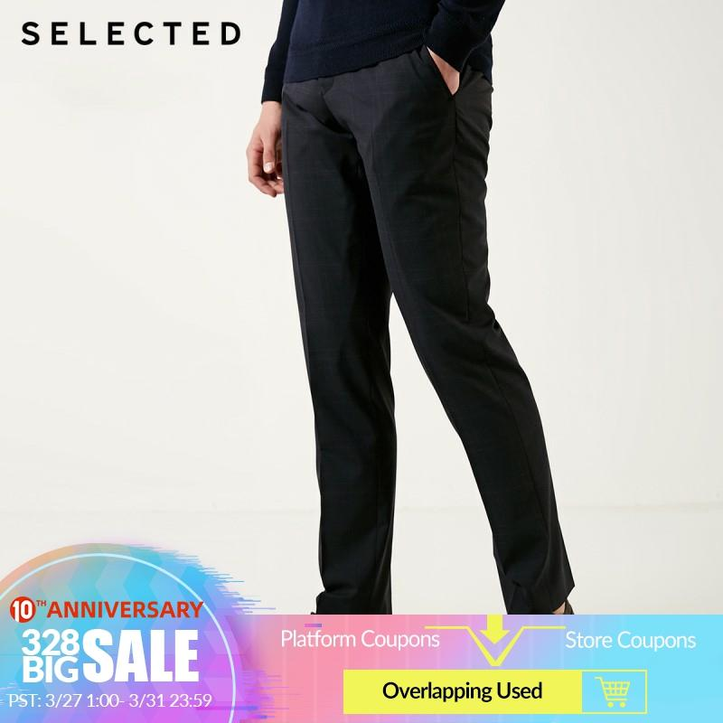 SELECTED Men's Slim Fit Woolen Suit Pants T|41916B501