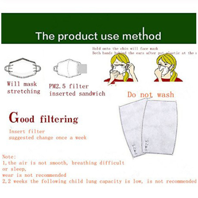 for Men Women PM2.5 Mouth Cotton Mask Anti-Haze Anti Pollution Mask  Activated carbon filter respirator In stock 5