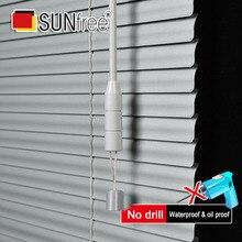 Su misura 25 millimetri Stecche Finestra In Alluminio Tende A Prova di UV di Perforazione o No drill sistema Blackout Tende Veneziane Tende per La Decorazione Domestica