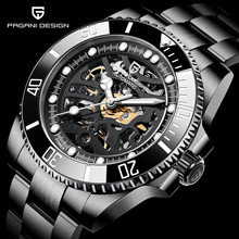 PAGANI DESIGN New Sapphire Glass Men Watch Stainless Steel W