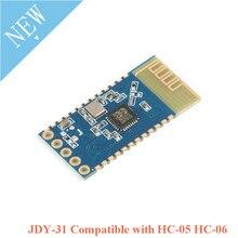 10pcs JDY 31 Bluetooth 3.0 HC 05 HC 06 Bluetooth מודול יציאה טורית 2.4G SPP שידור שקוף תואם HC 05 06 JDY 30