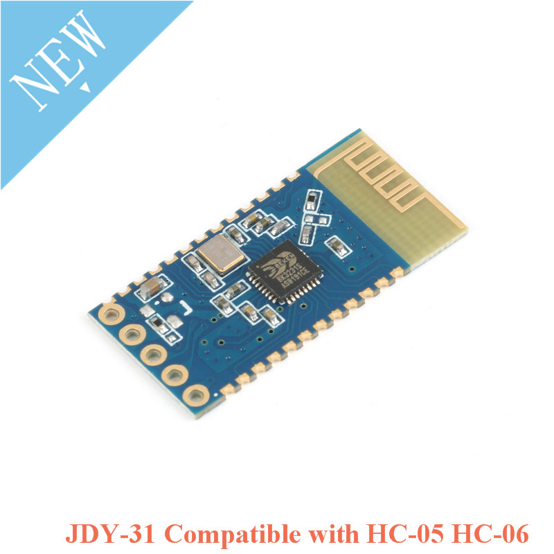 10pcs JDY-31 Bluetooth 3.0 <font><b>HC</b></font>-05 <font><b>HC</b></font>-<font><b>06</b></font> Bluetooth Module Serial Port 2.4G SPP Transparent Transmission Compatible <font><b>HC</b></font> 05 <font><b>06</b></font> JDY-30 image