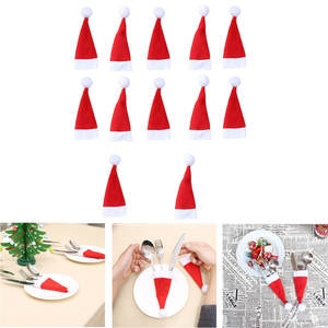 Decorative Tableware-Cover Fork-Hat Festival Christmas Wholesale Storage-Tool 12pcs