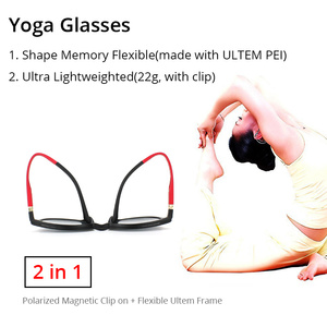 Image 3 - ZENOTTIC 2 in 1Polarized Sunglasses Magnetic Clip On Optical Glasses For Men Bendable Square Spectacl Clip On Shade Eyeglasses