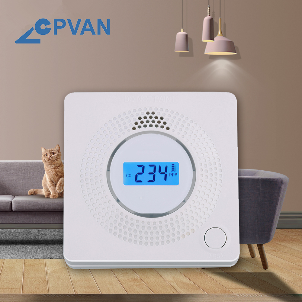 CPVAN Smart Carbon Monoxide Alarm 10 Years Battery Life 85dB Siren Sound High Sensitive Independent CO Alarm Sensor Detector