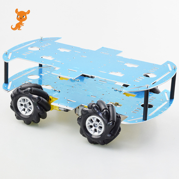 Cheapest Mecanum Wheel Omni-directional Robot Car Chassis Kit with 4pcs TT Motor for Arduino Raspberry Pi DIY Toy Parts 50mm double roller layers plastic omini track bearing conveyor transfer line robot omni directional skate wheel