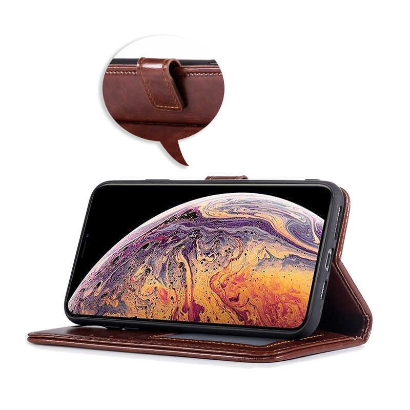 Кожаный флип чехол для huawei Y7 Pro 2019 держатель карты силиконовая фоторамка Чехол-футляр для huawei Enjoy 9 бизнес Чехол