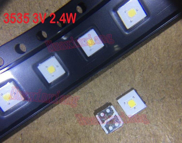 100PCS/Lot Lumens SMD LED 2.4W 3535 3V Cool White 153LM High Power For TV Backlight Application
