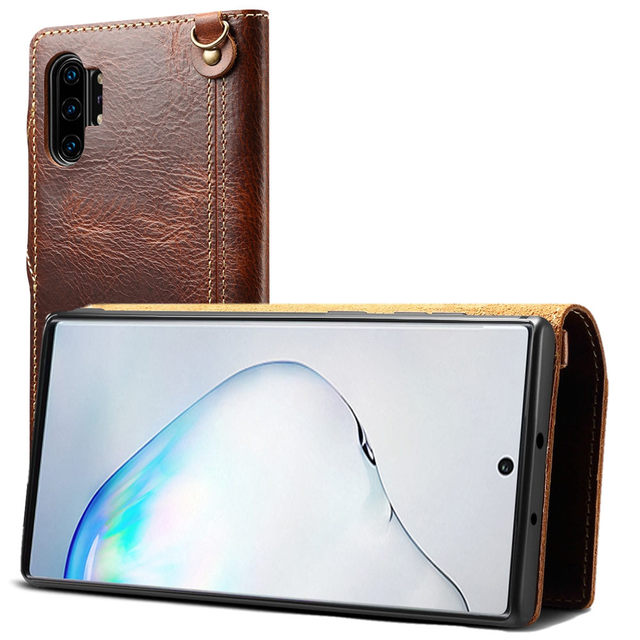 Galaxy S21 Note 20 Ultra Note 10 Plus stand case leather Note 10 Plus 10 Galaxy S20 S10 Plus S10 minimalist wallet flip case