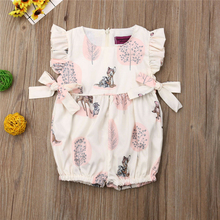 Kids Baby Girl Clothing Deer Flower Romper