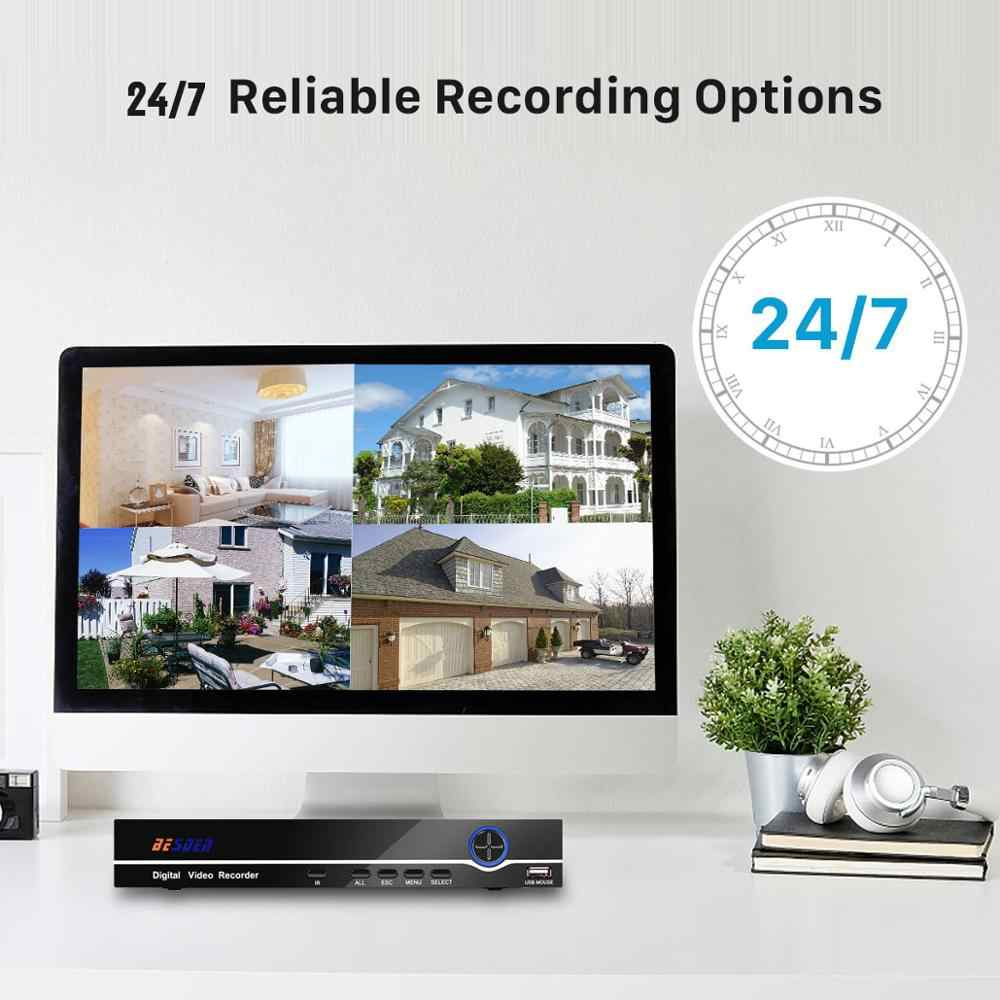 Besder Mini 4CH Poe Nvr 48V 1080P Hdmi Full Hd Netwerk Video Recorder Cctv Systeem Voor Poe Camera home Security System Onvif P2P