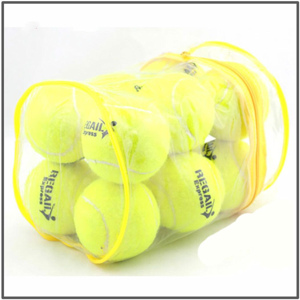 High Quality 12pcs/Lot Elasticity Tennis Ball For Training Sport Rubber Woolen Tennis Balls For Tennis Practice With Free Bag