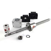 CNC ball screw nut 20mm SFU2005 screw 450mm/500mm/550mm BKBF15 end machining + ball screw nut 2005 + supporter + coupling цена 2017