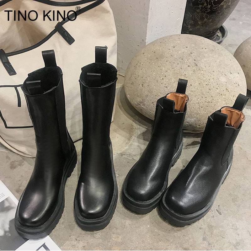 Women Chunky Heel Ankle Boots Woman Shoes Autumn Brand Designer Chelsea Boots Female Platform Boots Lasdies Fashion 1