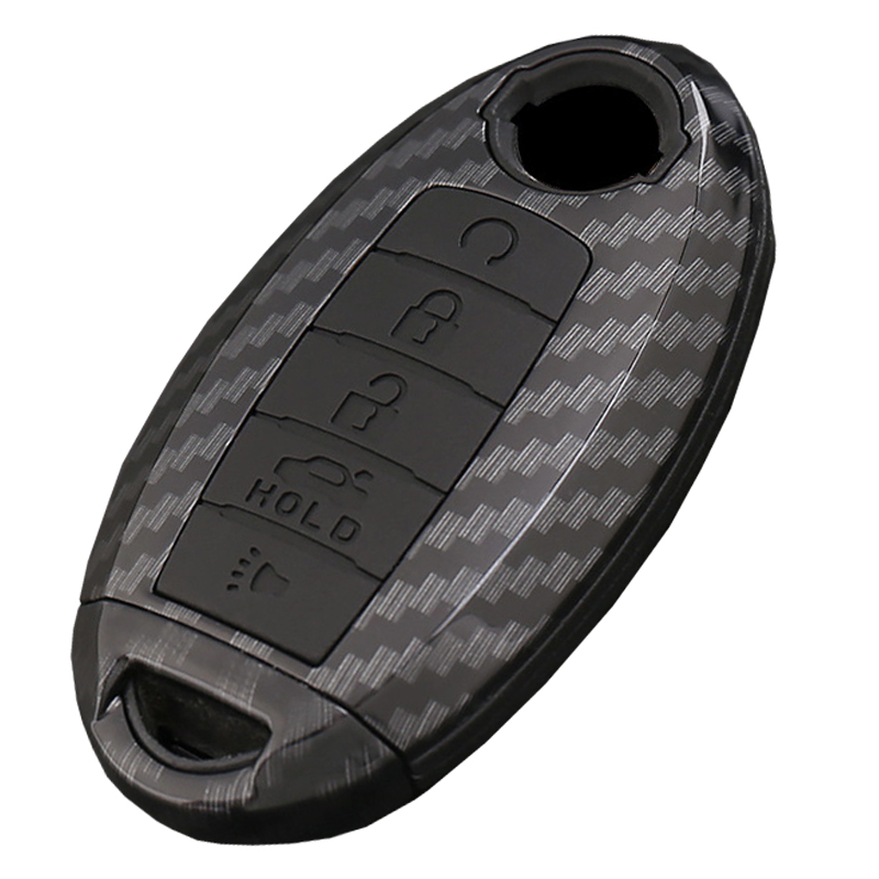 Carbon Car Remote Key Case Cover For Nissan Altima Maxima Murano Sentra Versa Titan Leaf title=