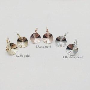Image 5 - Ms.Betti 14Mm Rivoli Oorbellen Bevindingen 1122 Oostenrijkse Crystal Copper Instellingen Met Franse Lever Terug Voor Sieraden Diy Maken