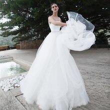 Блестящие Свадебные платья 2020 с драгоценным вырезом без рукавов