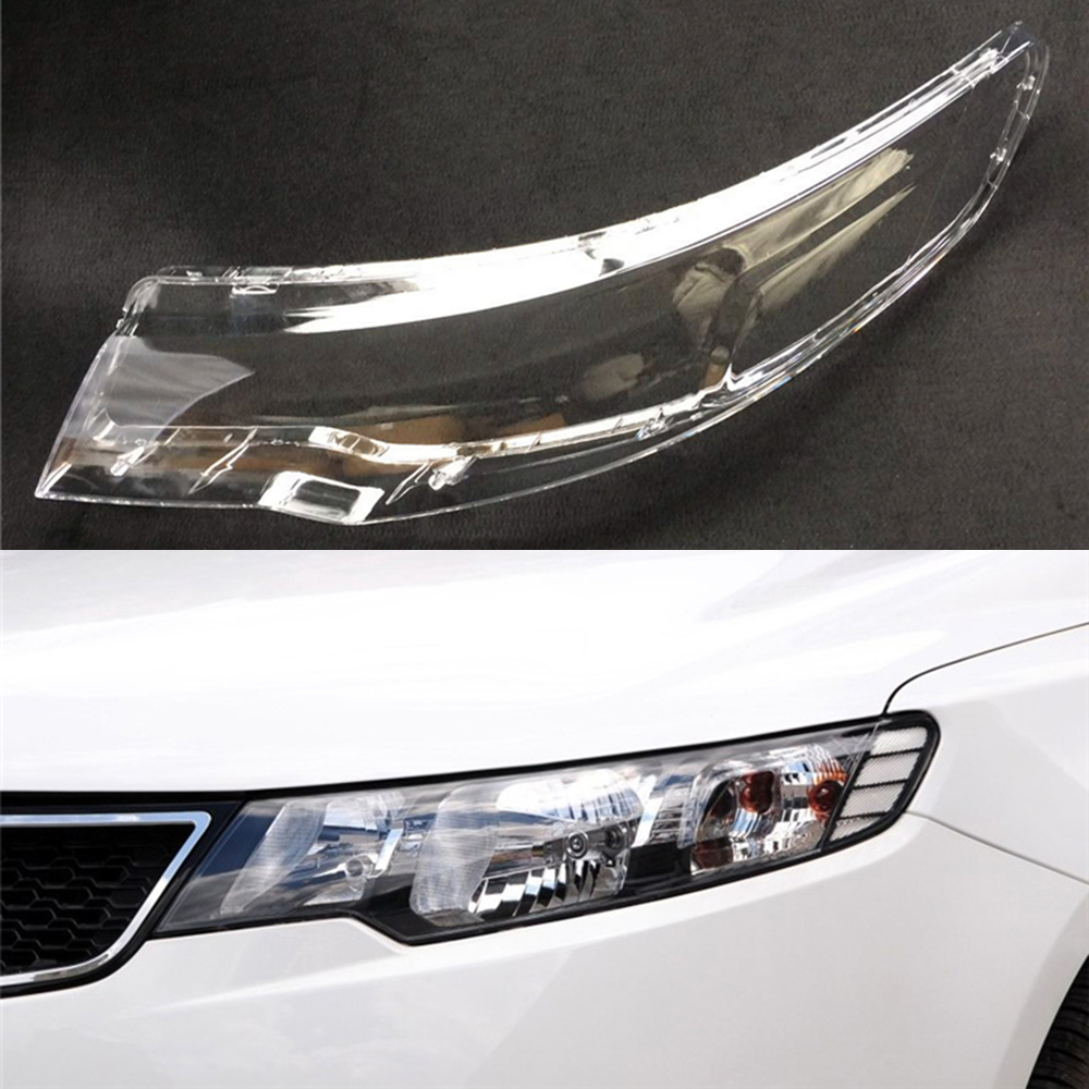 Car Headlight Lens For Kia Cerato Forte 2009 2010 2011 2012 2013  Car Headlamp Lens Replacement   Auto Shell Cover