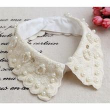 Ladies Women Adult Detachable Shirt Fake Collar Vintage lace