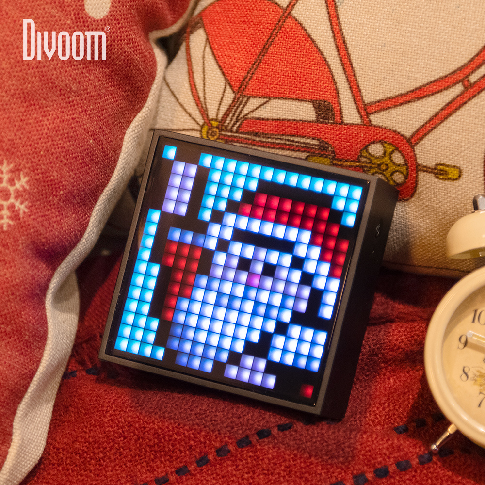 Divoom Timebox Evo Portable Bluetooth Speaker Clock Alarm DIY Pixel Art LED Screen App Control Unique Christmas Gift Decoration
