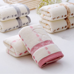 Ouneed Towel Super Absorbent Soft Washcloth The Bath Pure Cotton Siege Back Word Bath Towel Face Washers Hand Cloth Towels #45(China)