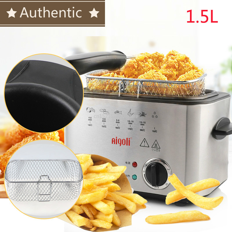 220V 1200W Constant Temperature Electric Frying Machine Multifunctional Home Smokeless Aluminum Alloy Commercial Deep Fryers