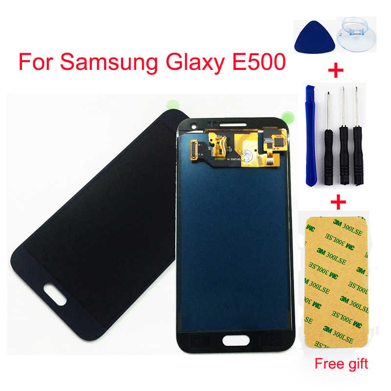 For Samsung Glaxy E5 lcd display E500 E500F E500H E500M Touch Screen Digitizer Sensor Glass + LCD Display Monitor Panel Assembly