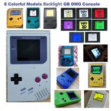 Console de jeux vidéo complète GB DMG reconditionnée pour game Boy, avec écran LCD rétro éclairé RIPS V3