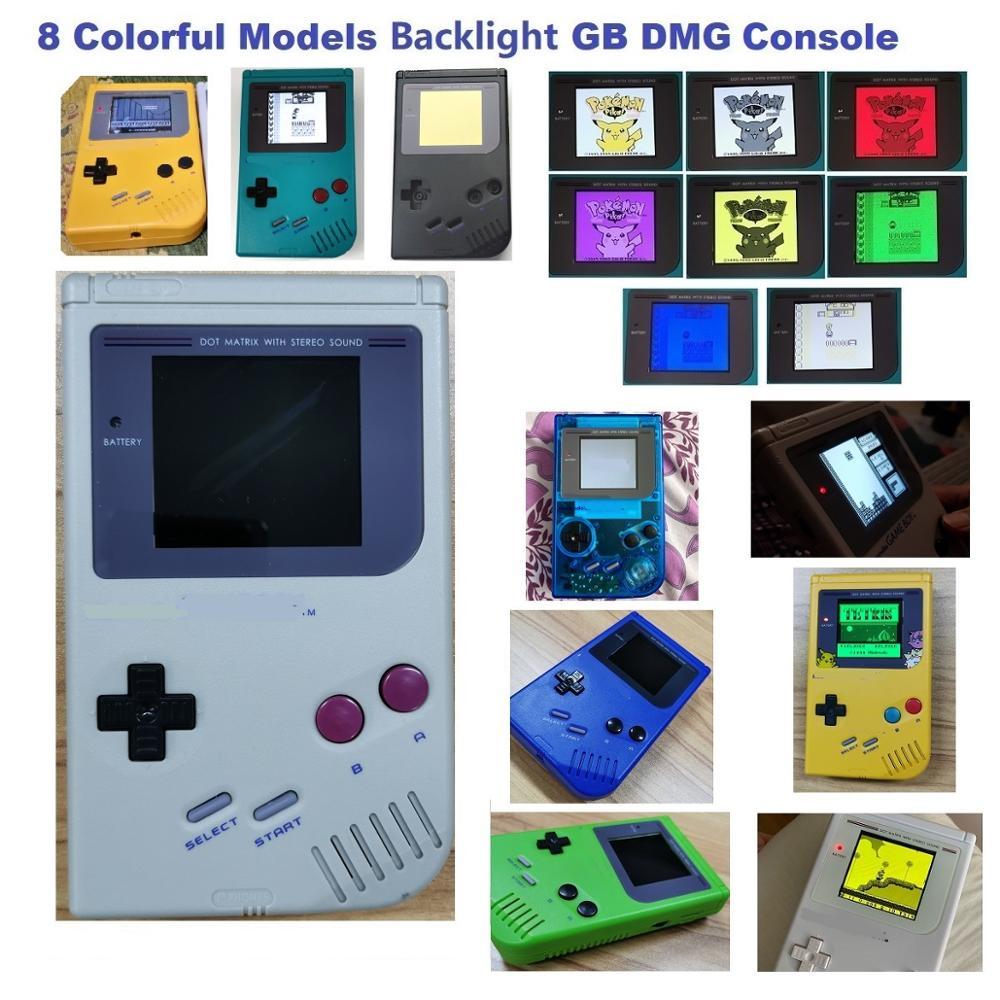 Полная игровая консоль GB DMG Отремонтированная для игровой консоли DMG с подсветкой RIPS V3|Запасные части| | АлиЭкспресс