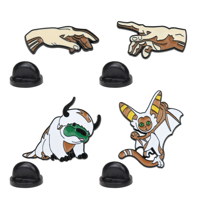 Avatar: The Last Airbender Brooch and Enamel Pin The Creation of Adam Hand Art Lapel Pin for Backpack Collar Jewelry