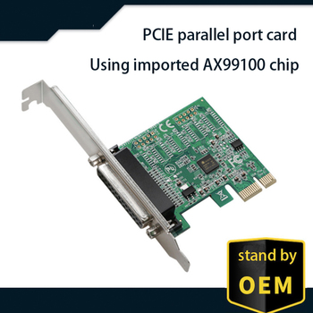 ASIX99100 chipset Parallel port card Printer DB25 LPT connector for PCI-E card with PCI Express connector adapter converter hot bi directional parallel interface communication usb to 25 pin db25 parallel printer cable adapter cord converter