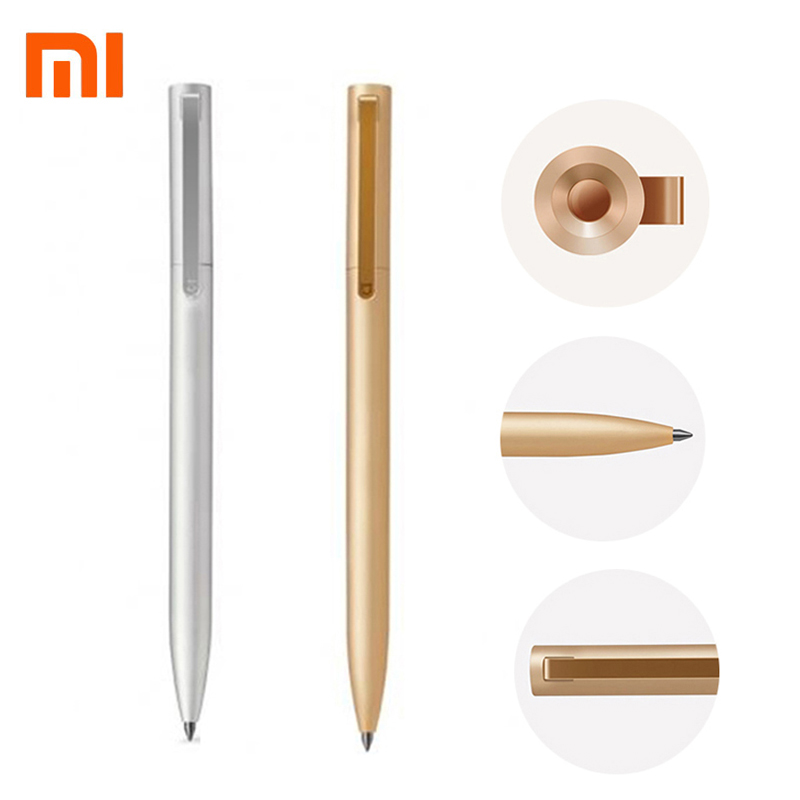 Original Xiaomi Metal Sign Pens PREMEC Smooth Switzerland Refill 0.5mm Sign Pen Mi Alloy Pen Black Ink Mijia Gold Pens Xiomi Ink