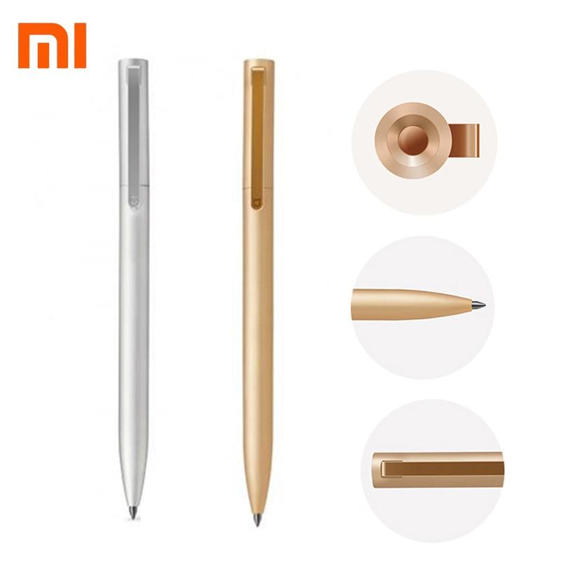 Original Xiaomi Metal Sign Pens PREMEC Smooth Switzerland Refill 0.5mm Sign Pen Mi Alloy Pen Black Ink Mijia Gold Pens Xiomi Ink