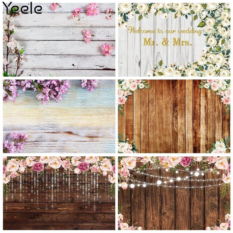 Yeele Wooden Board Backdrop Flower Baby Birthday Portrait Photography Background Nail Art Photographic Photocall Photo Studio