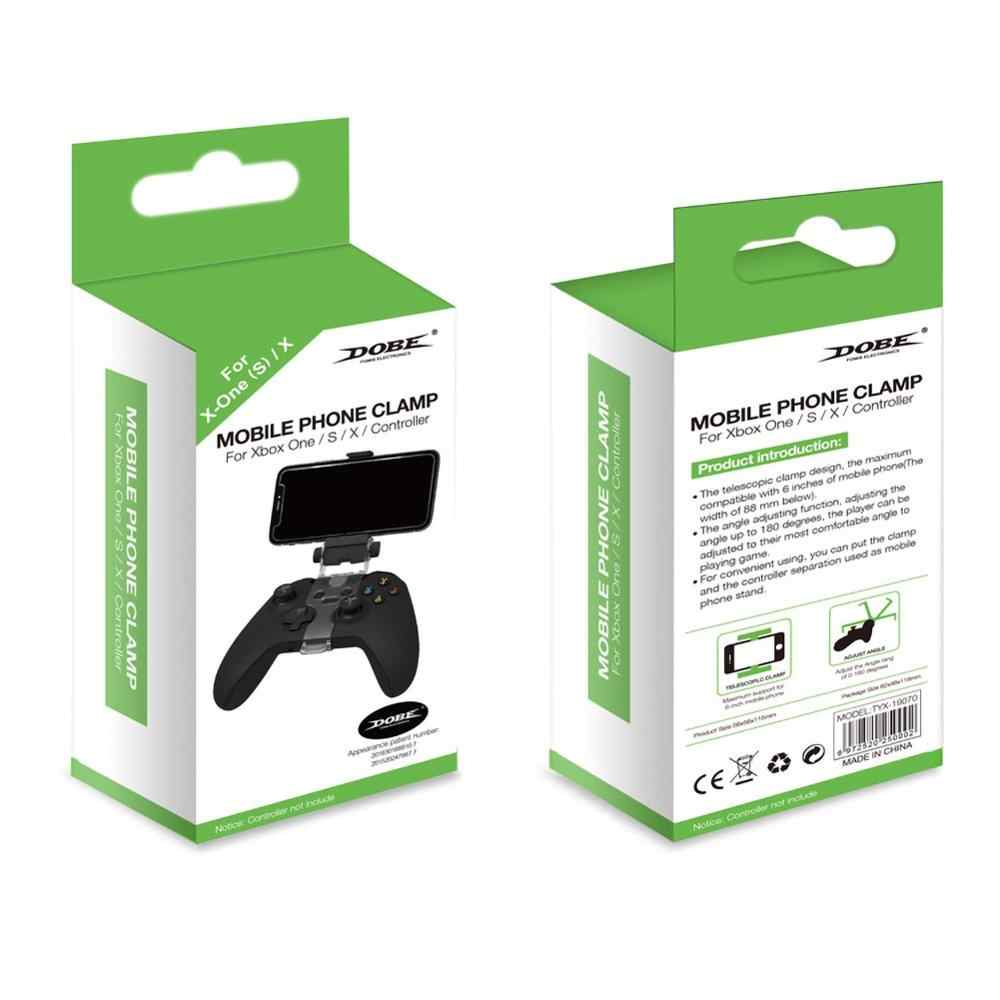 Katlanabilir denetleyici cep telefonu klip, Xbox One Slim/ X kablosuz kontrol cep telefonu kelepçe (klipsli)