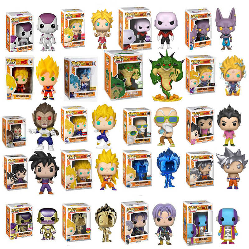 Funko Pop Dragon Ball SUPER SAIYAN GOKU FRIEZA Figure PVC Action Figure Collection Model Children Toys for Kids Birthday Gift