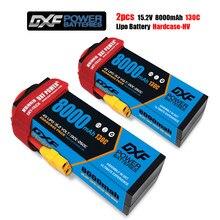DXF 2 uds baterías Lipo 2S 3S 4S 7,6 V 11,4 V 15,2 v 8000mah 130C 260C para RC1/8 1/10 XxMax Arrma Buggy TruggyTruck Drone barco
