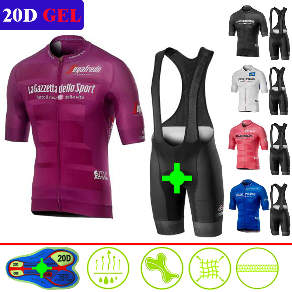 Tour De Italia Cycling Jersey Italy Men Cycling Summer Short Sleeve Set Jersey Bike Bib Shorts Breathable MTB Racing Maillot