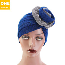 Speed Sell Tong Hit Double Color Light Silk Big Turban Joker Fashion Cap Hat Tjm Chemotherapy - 322 - C