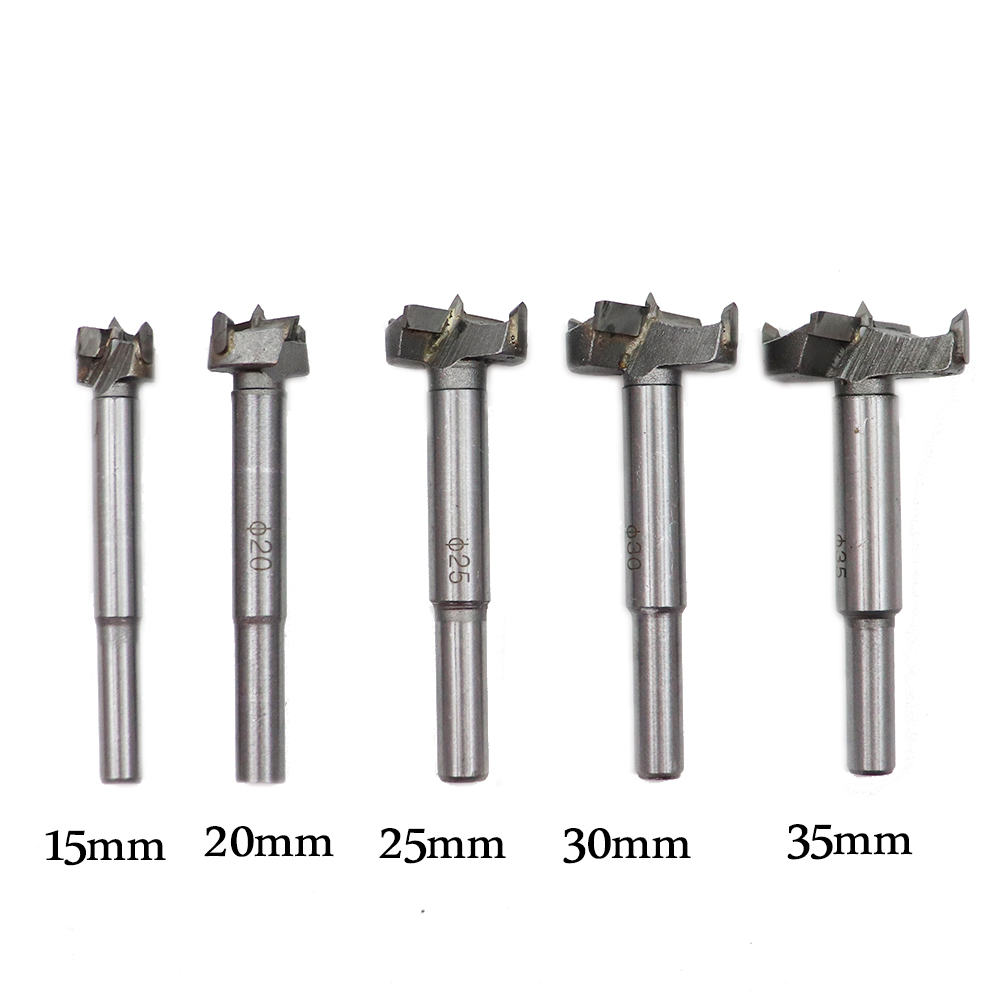 1pc 15/20/25/30/35mm Wood Drill Bit Self Centering Hole Saw Cutter Wood Hole Drilling Tools Forstner Drill Bit