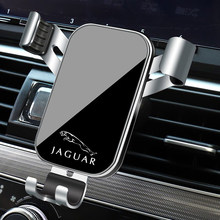 1 pçs suporte do telefone do carro gravidade sensing respiradouro de ar montagem suporte acessórios para jaguar xel F-TYPE xfl F-PACE E-PACE I-PACE xf