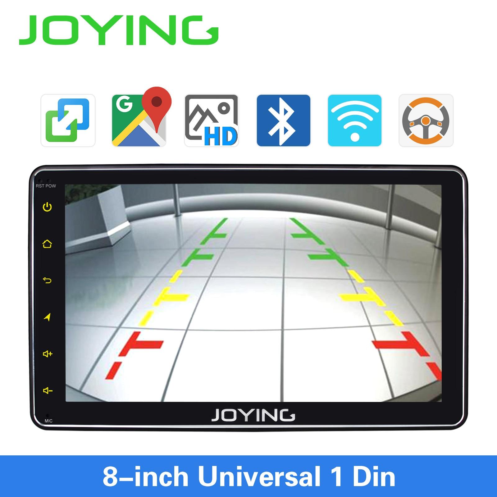 Image 4 - JOYING single din universal car radio 8 inch IPS screen autoradio head unit GPS suport mirror link& fast boot&s*back up cameraCar Multimedia Player   -