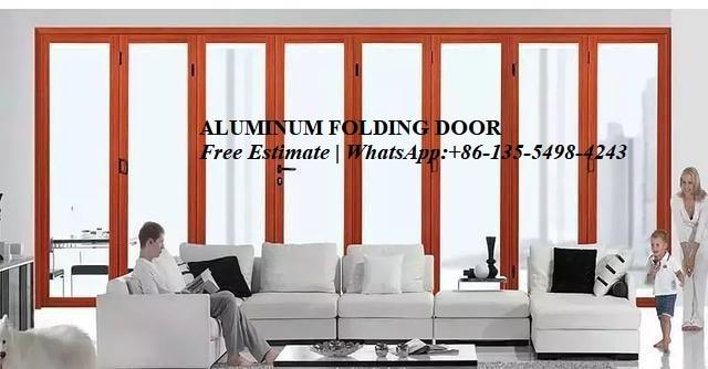 Aluminum Bi-folding Door Thermal Break Soundproof Aluminum Doors Design Powder Coated,bi Fold Doors,exterior Patio Doors