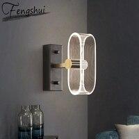 Nordic Eisen Acryl Wand Lampe Lichter FÜHRTE Leuchte Lampen Schlafzimmer Badezimmer Wohnzimmer Treppen Nacht Hotel Home Decor Wand Licht
