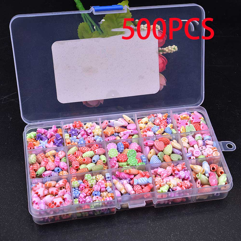 15 Grid DIY Colorful Beads Girls Toys Set Jewelry Accessories Puzzle Handmade Crafts Education Toy Children Necklaces Toys