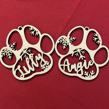 Dog Paw Christmas Ornament 3