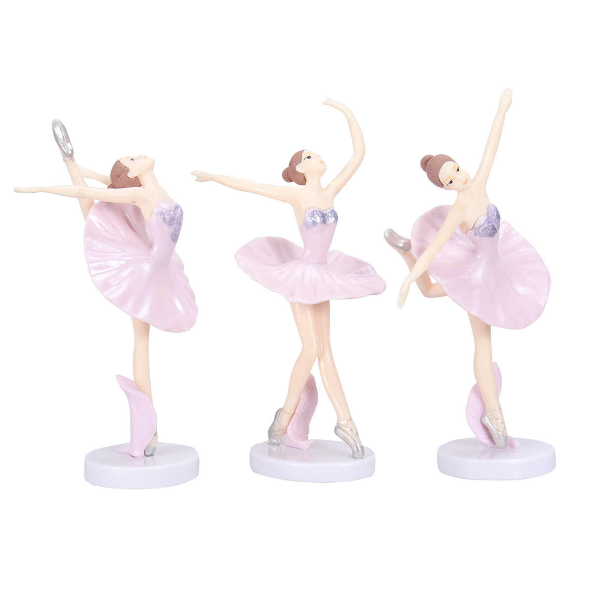3 piezas de estatua de bailarina, adorno de escritorio, figurita de bailarina, figuritas, figuritas, miniaturas, figurita de bailarina, manualidades, figurita, decoración del hogar